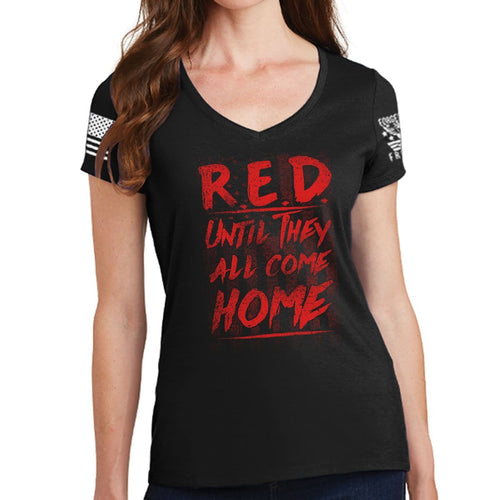 Ladies Until They Come Home V-Neck T-shirt