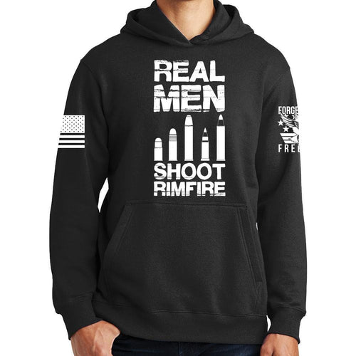 Real Men Shoot Rimfire Hoodie