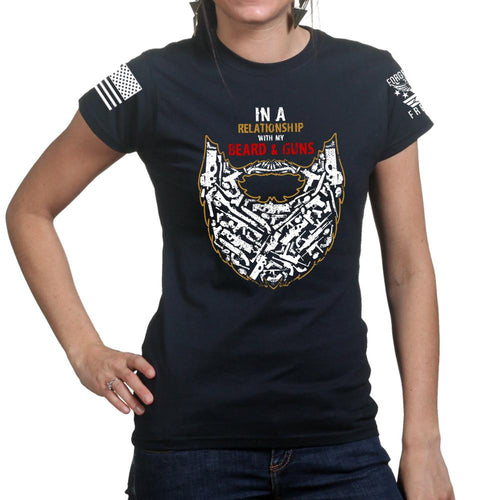 Guns and Beard Ladies T-shirt