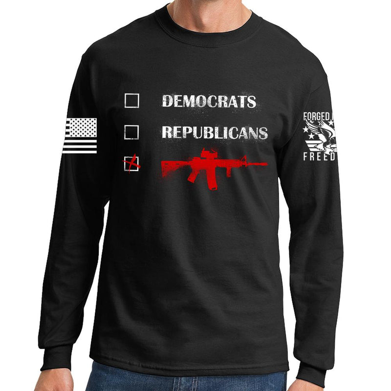 Republicans Democrats AR15 Long Sleeve T-shirt