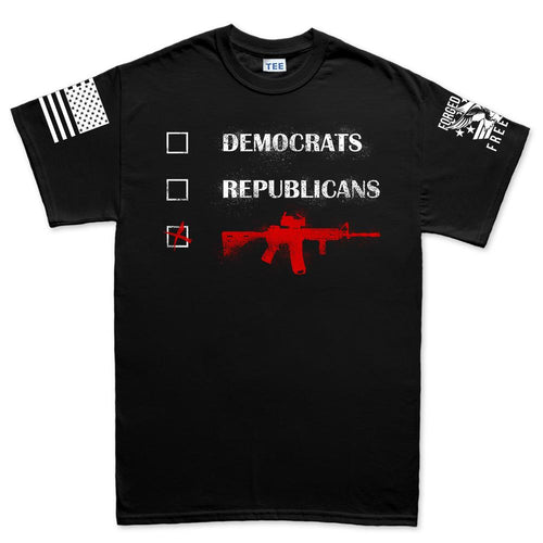 Republicans Democrats AR15 Men's T-shirt