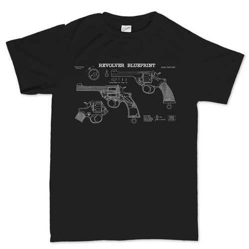 Vintage Revolver Blueprints Men's T-shirt