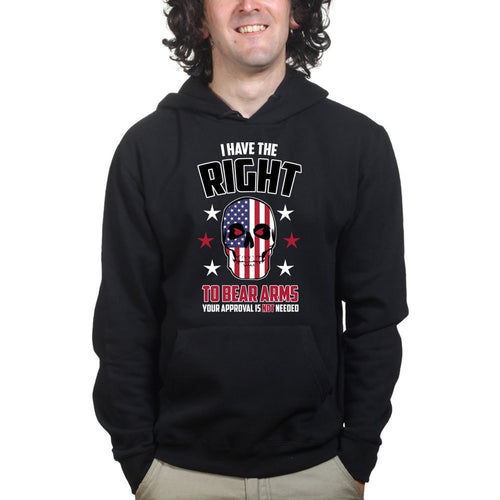 Right to Bear Arms Skull Mens Hoodie