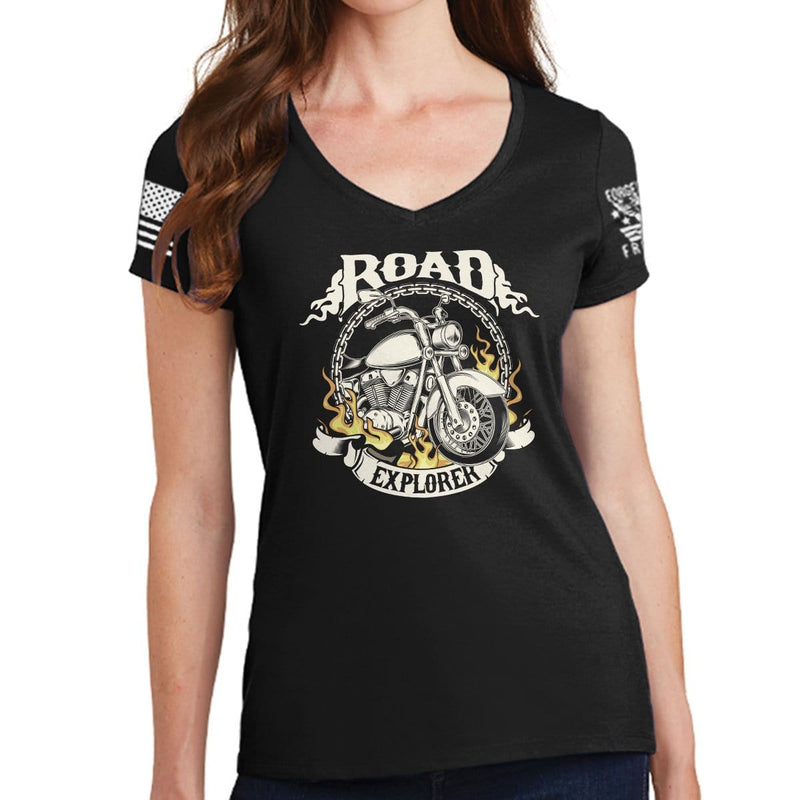 Ladies Road Explorer V-Neck T-shirt