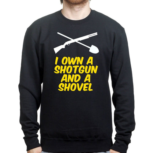 Shotgun and a Shovel Mens Sweatshirt