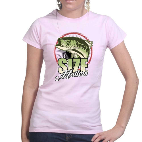 Size Matters (Fishing) Ladies T-shirt