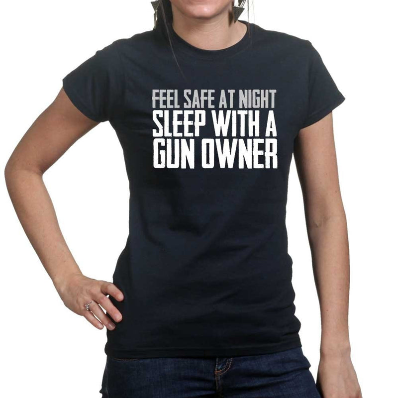Ladies Sleep With A Gun Owner T-shirt