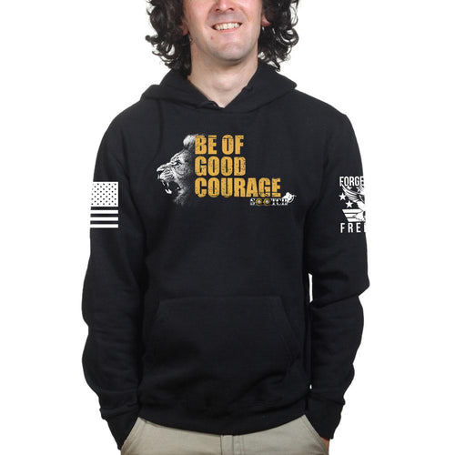 Sootch00 Be of Good Courage Lion Hoodie