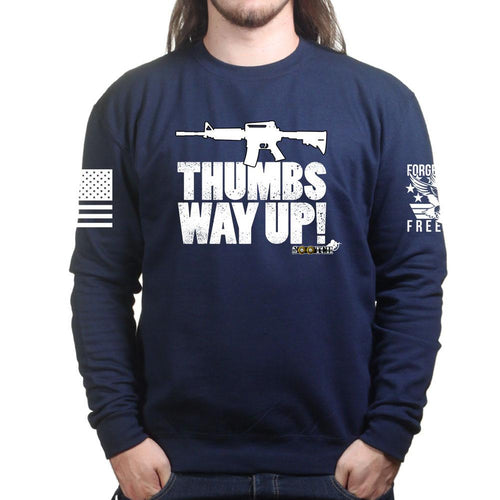 Sootch00 Thumbs WAY Up! Sweatshirt