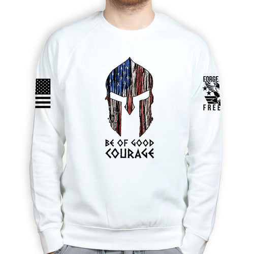 Sootch00 Be of Good Courage Spartan Sweatshirt
