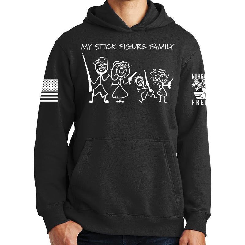 My Stick Figure Family Hoodie