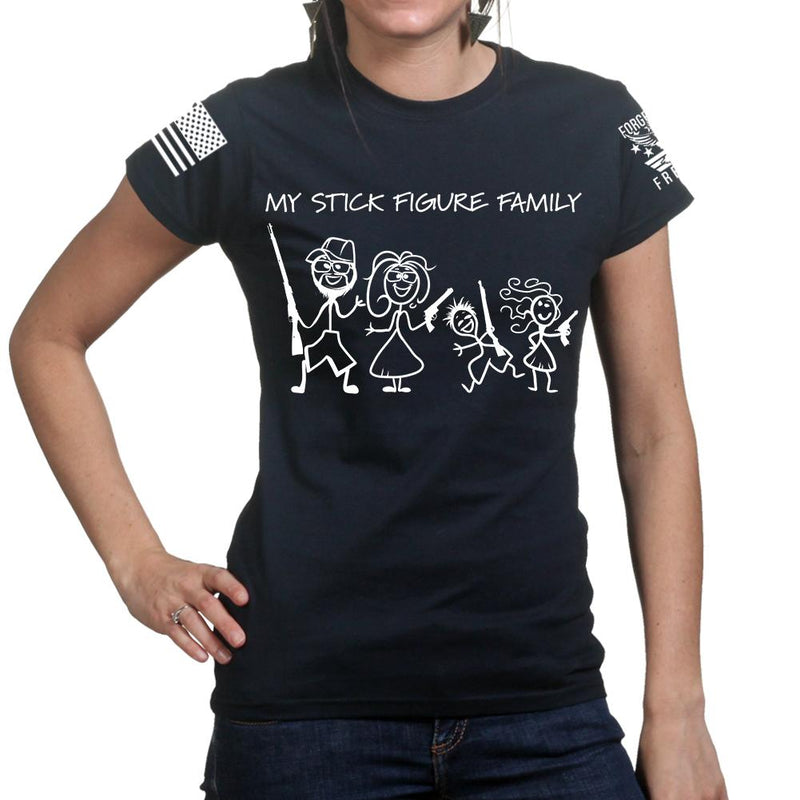My Stick Figure Family Ladies T-shirt