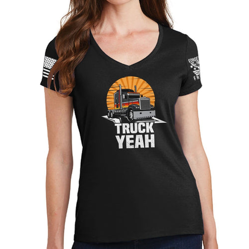 Ladies Truck Yeah V-Neck T-shirt