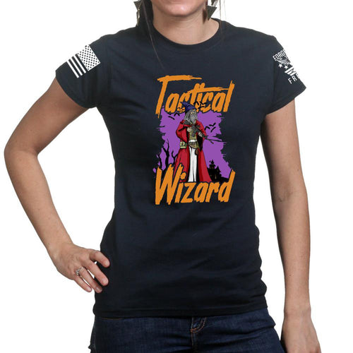 Tactical Wizard Halloween Ladies T-shirt