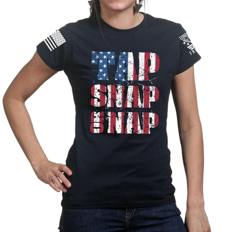 Ladies Tap Snap Or Nap T-shirt