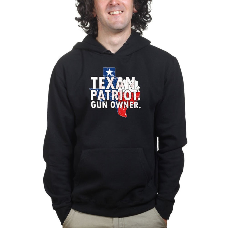 Texas Patriot Gun Owner Mens Hoodie