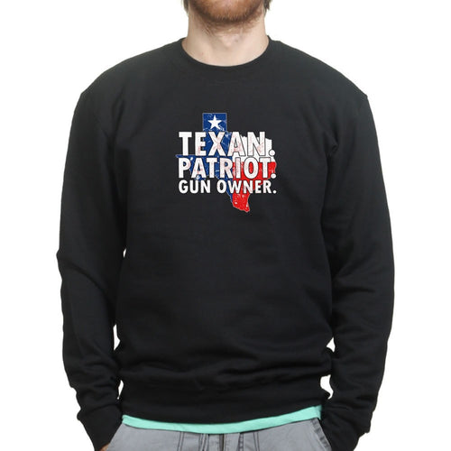 Texas Patriot Gun Owner Mens Sweatshirt