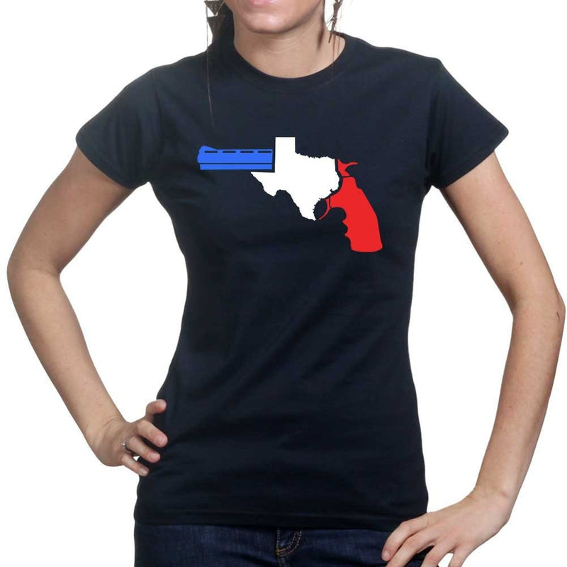 Texas Gun Ladies T-shirt