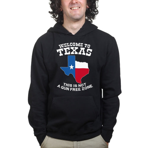 Texas Not a Gun Free Zone Mens Hoodie