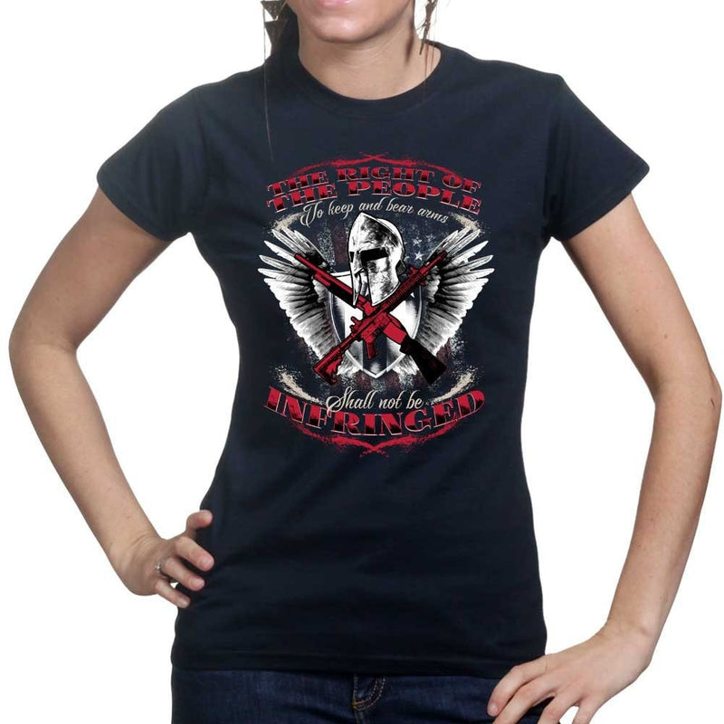 Ladies Spartan Shall Not Be Infringed T-shirt
