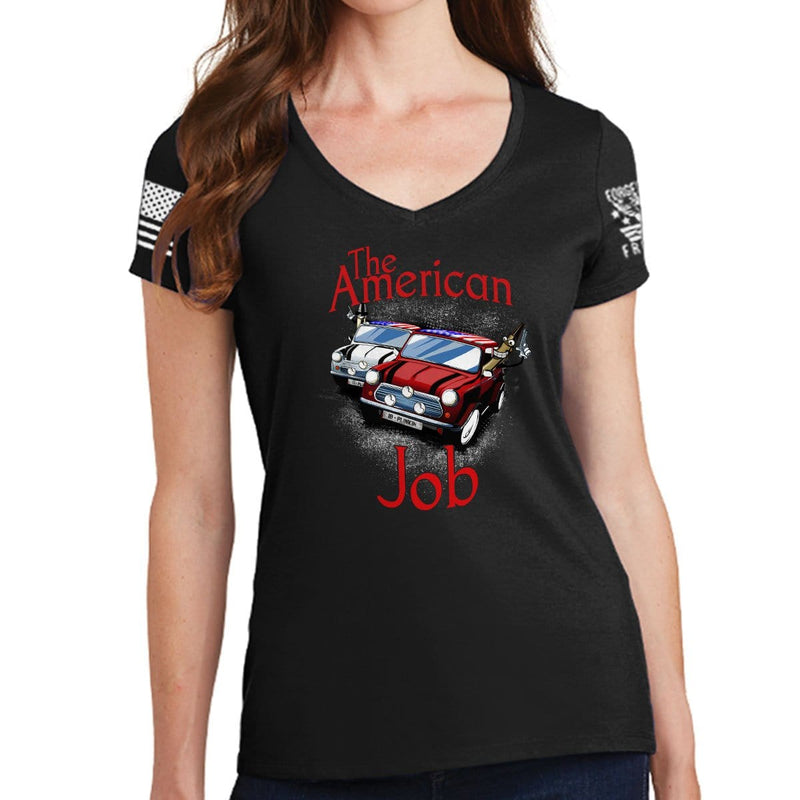 Ladies The American Job V-Neck T-shirt