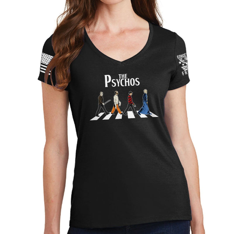 Ladies The Psychos V-Neck T-shirt