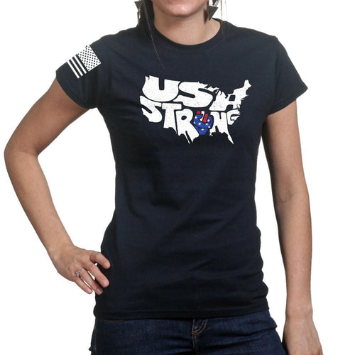 Ladies USA Strong T-shirt