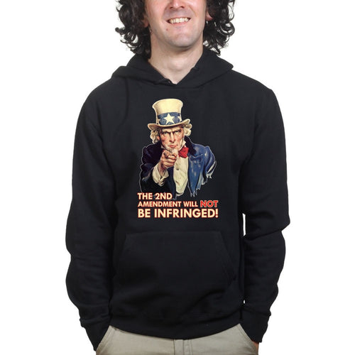 Uncle Sam Second Amendment Mens Hoodie