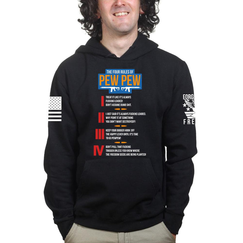 The Four Rules of Pew Pew Hoodie