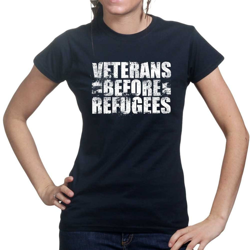 Veterans Before Refugees Ladies T-shirt