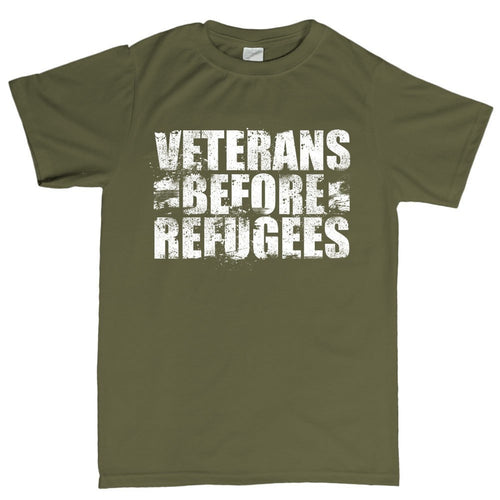 Veterans Before Refugees Men's T-shirt