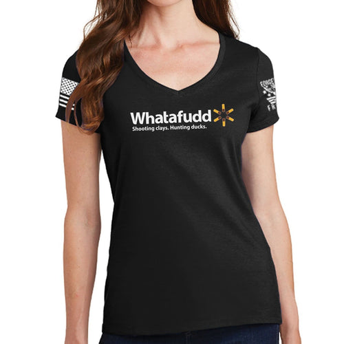 Ladies Whatafudd V-Neck T-shirt