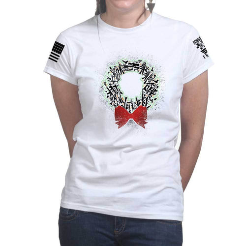 Gun Wreath Ladies T-shirt