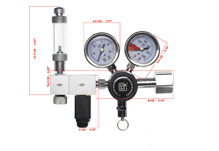 Pro-Elite Series The Most Advanced Aquarium Dual Stage CO2 Regulator