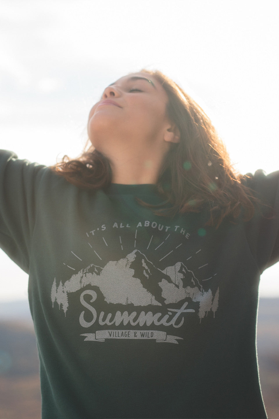 Summit Drop Shoulder Crewneck