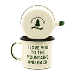 Mountain Lovin' Enamel Camp Mug - Set of Two