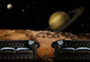 Space Scene with Saturn Wall Decal