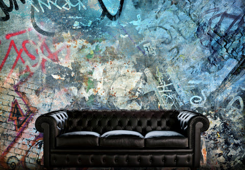 Modern Grungy Graffiti Wall Decal