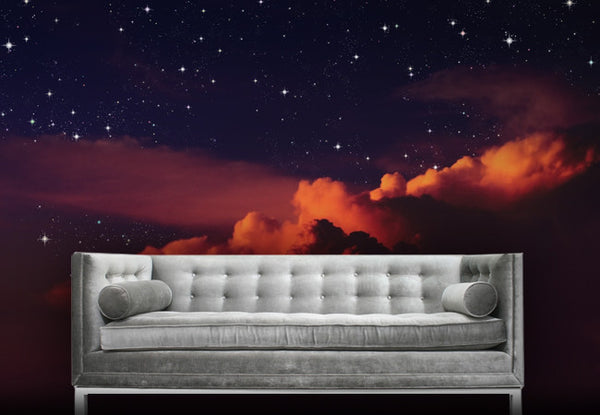 Colorful Night Sky Wall Mural