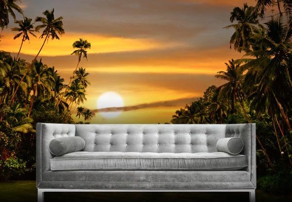 Jungle Sunset Wall Decal