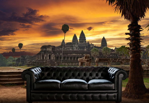 Angkor Wat Sunset Wall Decal