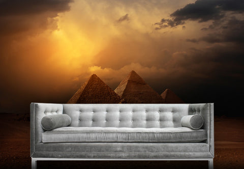 Dark Pyramids Wall Decal