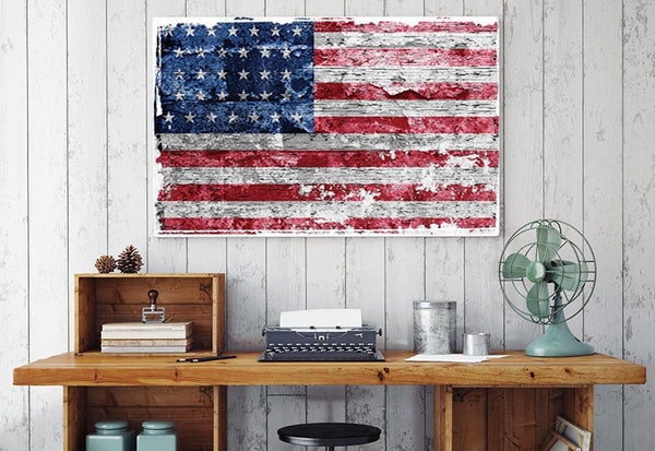Stars & Stripes US Flag Wrapped Canvas