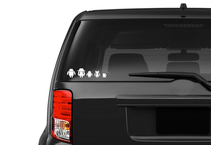 Android Family Vehicle Decal