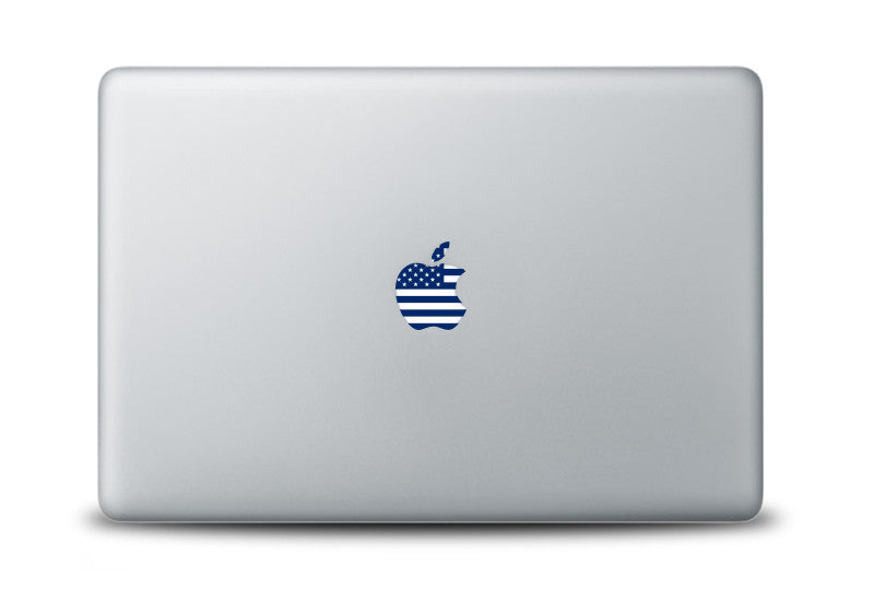 USA Flag Decal for Apple Laptops