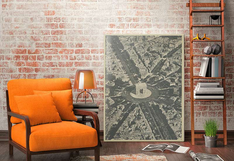 Arc De Triomphe Paris Vintage Canvas