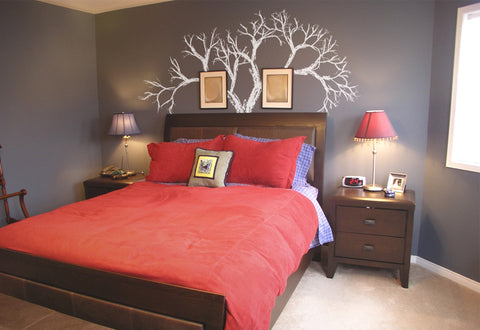 Bare Crayon Drawing Tree Wall Decal