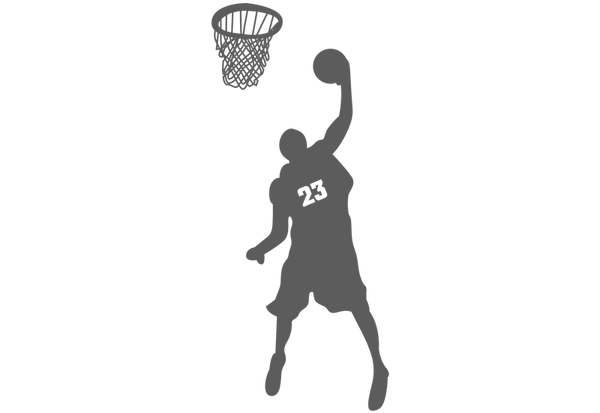 Basketball Player Slam Dunk #2 Wall Decal