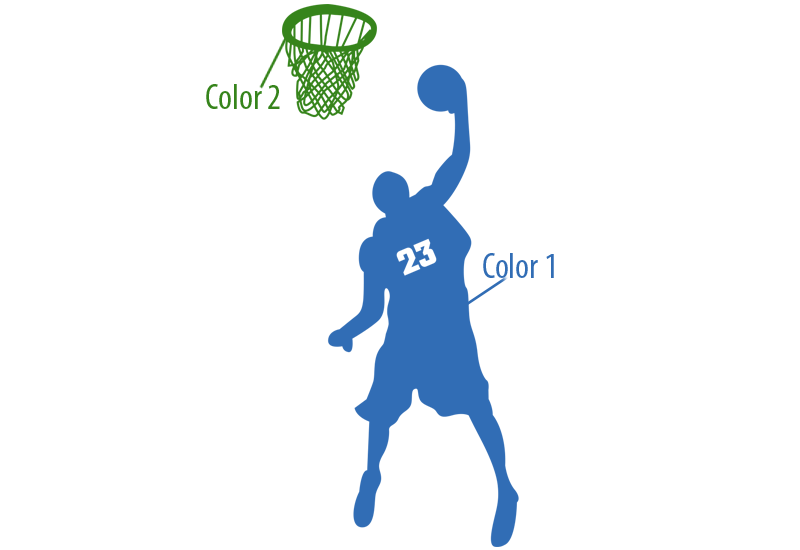 basketball player slam dunk 2 wall decal - Basketball Pictures To Color 2