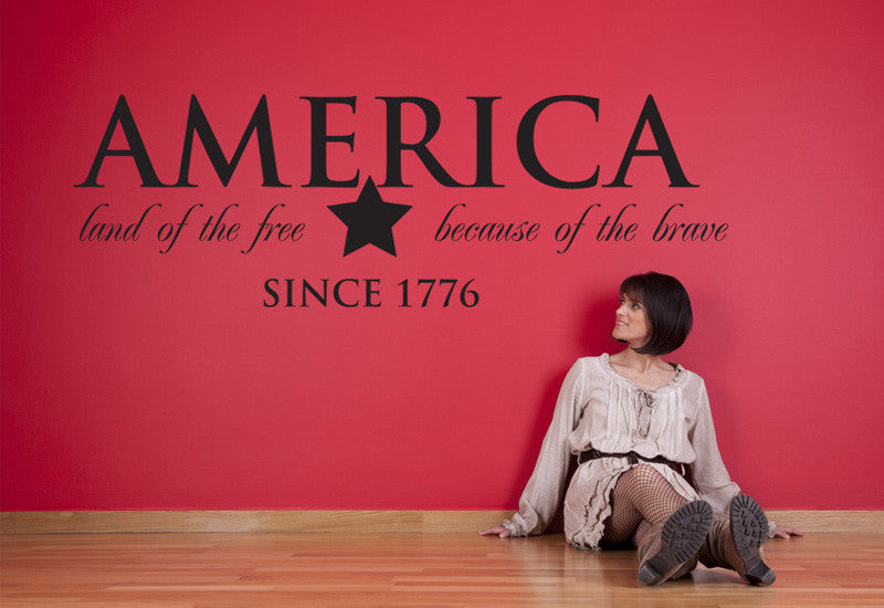 America Land of the Free Wall Decal